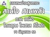 รายงานข่าวสุขภาวะ ภาคเหนือ สานใจสานพลัง 14มิถุนายน 2555