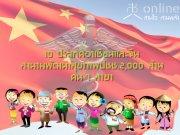 10 ประเทศอาเซียนและจีนลงนามพัฒนาสุขภาพปชช.2,000 ล้านคน 7 สาขา