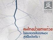 คนไทยป่วยตายด้วยโรคหลอดเลือดสมองสูงเป็นอันดับ 1