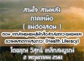 รายงานข่าวสุขภาวะ ภาคเหนือ สานใจสานพลัง 2 พฤษภาคม 2561 ตอน จากล่ามชุมชนสู่นักสื่อสารสุขภาวะชุม ชนและ ความฉลาดทางสุขภาวะ (Health Literacy) : วิสุทธิ์ เหล็กสมบูรณ์