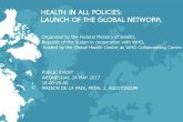 HEALTH IN ALL POLICIES: LAUNCH OF THE GLOBAL NETWORK